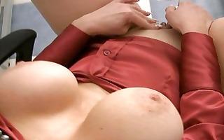 masturbating breasty satin wearing milfs with toys