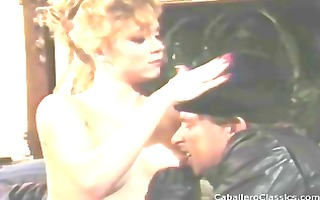 retro porn with this golden-haired going down and