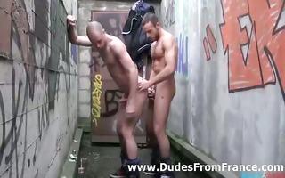 sexy homo french man assfucks hot chap in his