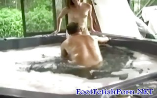 juicy foot enjoyment scene