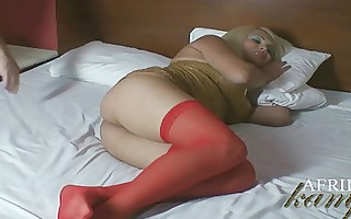 afrika kampos in red nylons