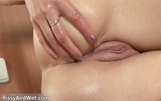 sexually excited golden-haired playgirl receives