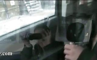 18yo teenager fingering her bawdy cleft in car