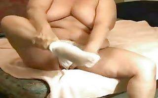 granny catherine53 yearsmasturbates in bedroom