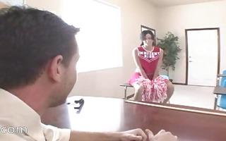 teacher bonks daintily cute cheerleader
