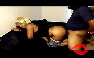 ebony legal age teenager loves making home made