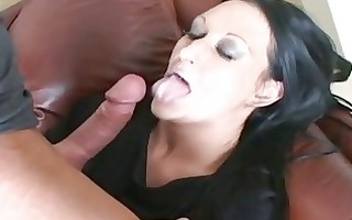 lustful slut extreme holly swallows a thick boner