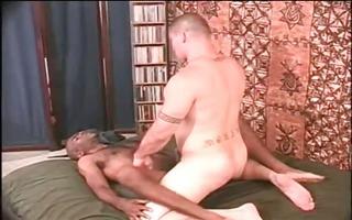 curly dark stud have bizarre anal fuck part2