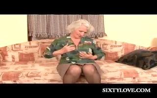 lewd aged copulates her bushy cum-hole with