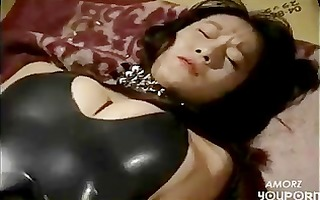 perverted oriental acquires her constricted latex