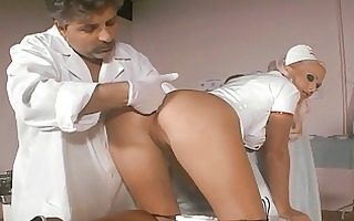 smoking sexy nurse butt-banged