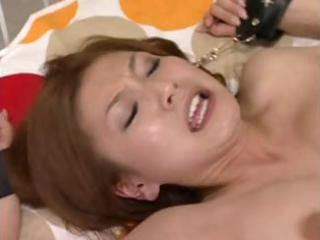 Cute Japanese girl eats his cock and has her