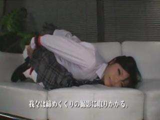 Japanese schoolgirl eats a cock, gets toyed and