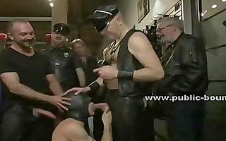 dudes in shop walk around homosexual prey