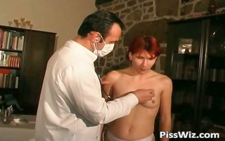redhead aged doxy sucks on hard dick part1