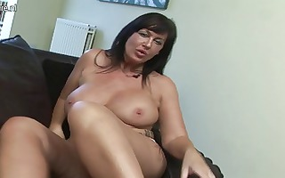hot british mother i gets her love tunnel soaking