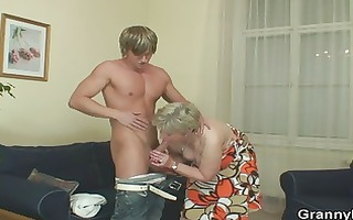 mature lady got juvenile dick